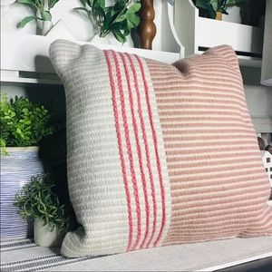 Hearth and hand PINK indoor/outdoor pillow NEW